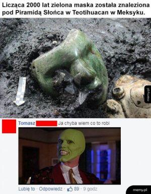 Zielona maska