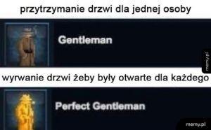 Gentleman vs prawdziwy gentleman