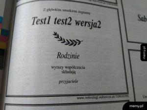 Wszędzie testy