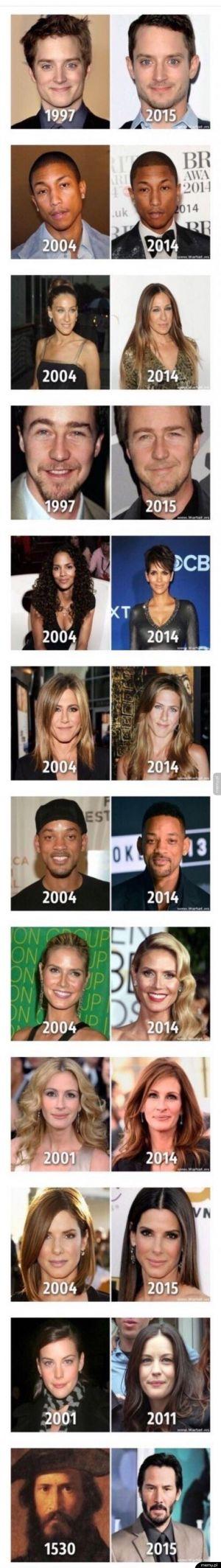 Aktorzy, którzy się nie starzeją