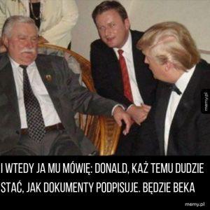 Wałęsa daje rady Trumpowi