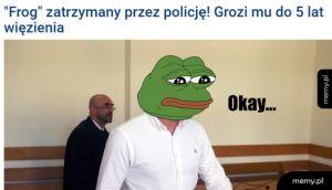 """""""Frog"""" ujęty przez policję"""