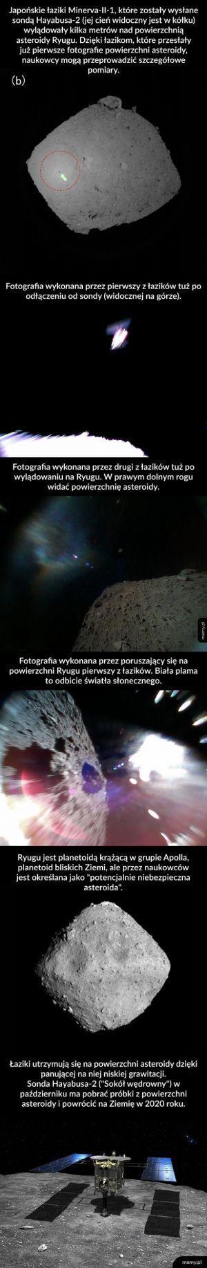 Pierwsze zdjęcia z powierzchni asteroidy