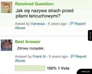 Genialna odpowiedź na pytanie