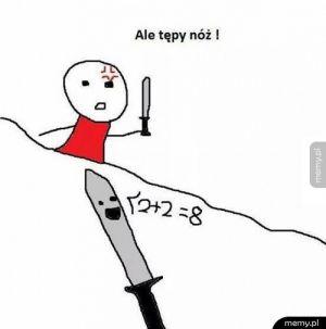 Tępy nóż