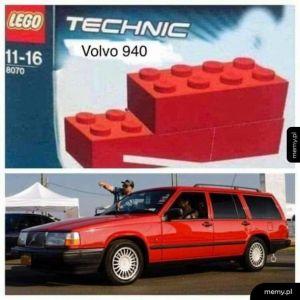 Piękny model Volvo z lego