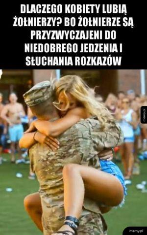 Dlatego kobiety lubią żołnierzy