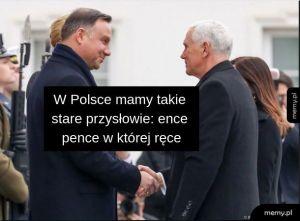 Andrzej Duda i Mike Pence