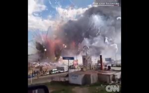 Wybuch w fabryce fajerwerków