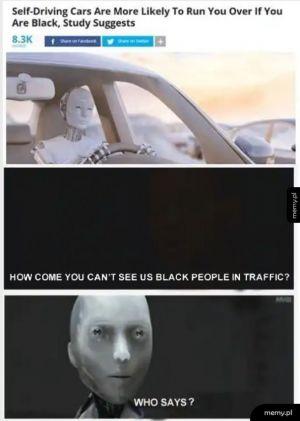 Roboty nie widzą afroamerykanów