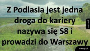 Jedyna droga dla młodych z Podlasia, to...