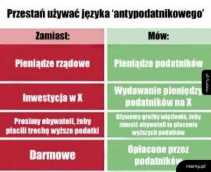 Język rządu vs. jak jest naprawdę