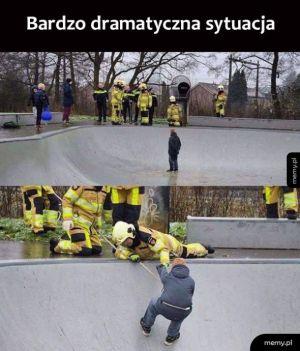 Dramatyczna akcja ratunkowa