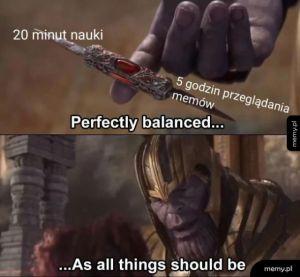 Balans zachowany