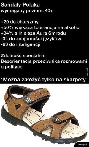 Sandały Janusza