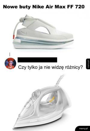 Buty na wzór żelazka
