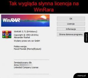 Licencja WinRara