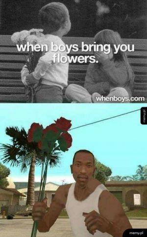 Chłopcy i kwiaty