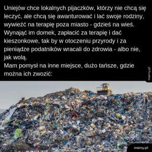 Śmieci na wysypisko!