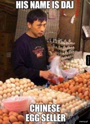 Sprzedawca jaj