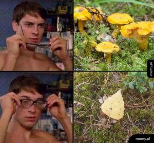 W okularach i bez