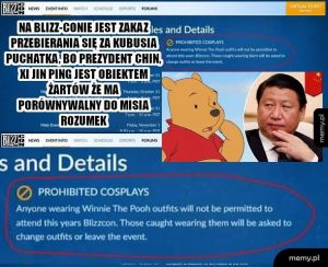 Kto ma pomysł dlaczego USAński  Blizzard podlizuje się Chinczykom?
