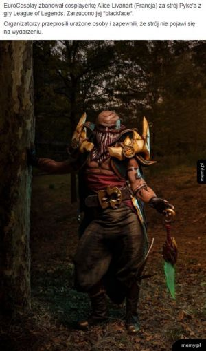 Ban za blackface w cosplayu
