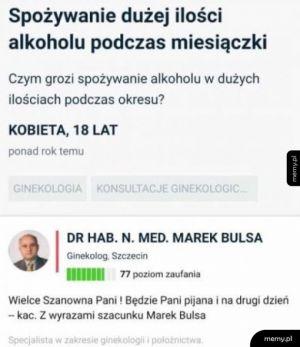 Doktor zawsze pomoże