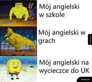 Mój angielski
