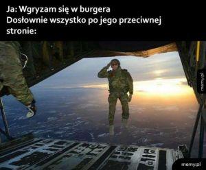 Jedzenie burgera