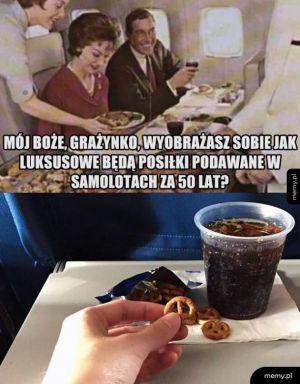 Posiłki w samolotach
