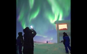 Niesamowita zorza polarna