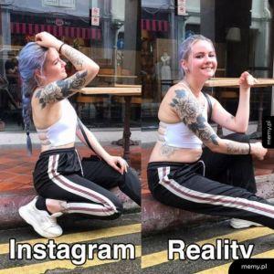 Instagram i rzeczywistość