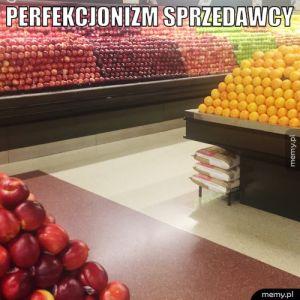 Perfekcjonizm sprzedawcy.