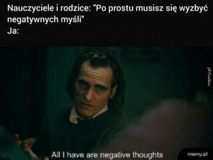 Negatywne myśli
