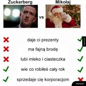 Zuckerberg vs Mikołaj
