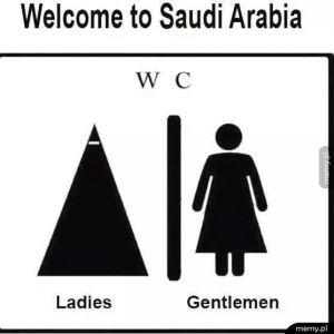 Toalety w Arabii Saudyjskiej