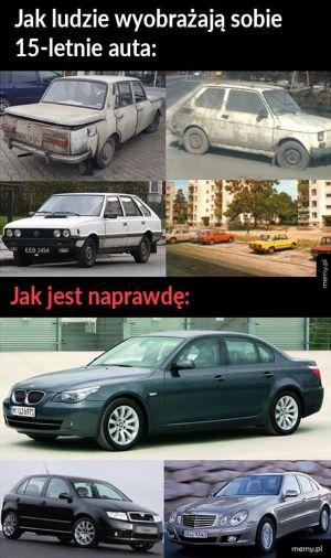15 letnie auta