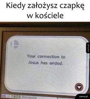 Czapka w kościele