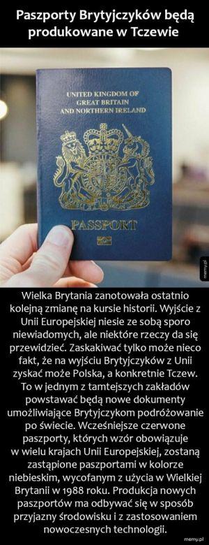 Brytyjskie paszporty z Polski