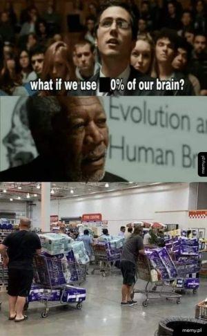 0% wykorzystania mózgu