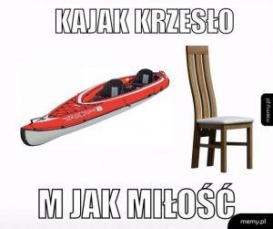 k jak krzesło