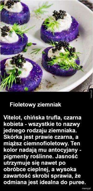Fioletowy ziemniak