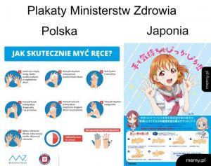 Plakaty ministerstw zdrowia