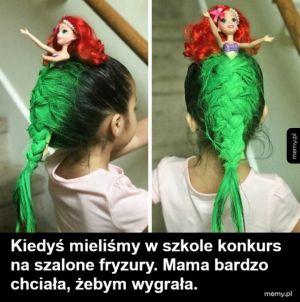 Szalona fryzura