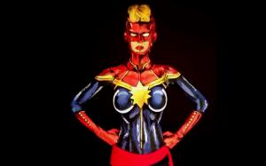 Bodypaint cosplay