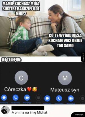 Syn vs córka