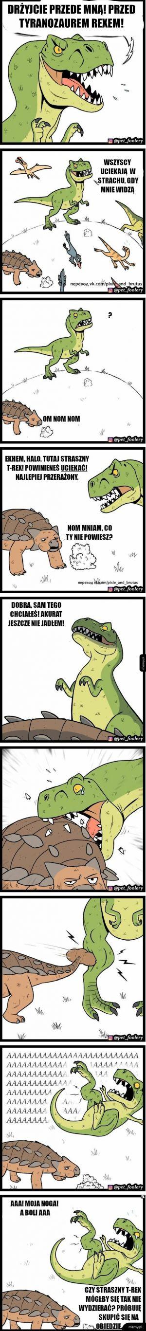 Straszny tyranozaurus reks