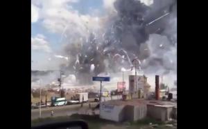 Eksplozja fabryki fajerwerków