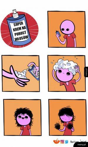 Krem na porost włosów
